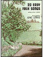 20 Very Easy Folk Songs Sheet Music