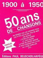 50 Ans De Chansons Sheet Music