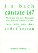 Jesus que ma joie demeure - Cantate, No. 147 Sheet Music