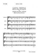 Antoine De Fevin: Sancta Trinitas Sheet Music
