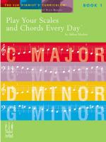 Helen Marlais: Play Your Scales and Chords Every Day - Book 1 Sheet Music