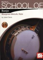 Janet Davis: School of Banjo - Bluegrass Melodic Style Sheet Music