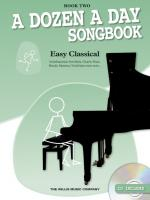 A Dozen A Day Songbook: Easy Classical - Book Two Sheet Music