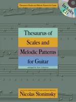 Nicolas Slonimsky: Thesaurus of Scales and Melodic Patterns (Guitar) Sheet Music