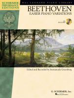 Ludwig van Beethoven: Easier Piano Variations (Schirmer Performance Edition) Sheet Music