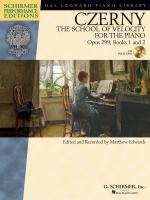 Carl Czerny: The School Of Velocity For The Piano Opus 299 (Schirmer Performance Edition) Sheet Music