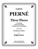 Three Pieces for Trombone & Piano Sheet Music