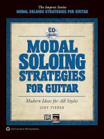 Modal Soloing Strategies for Guitar Sheet Music