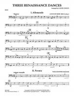 Three Renaissance Dances - Bass Sheet Music