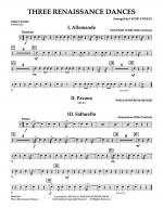 Three Renaissance Dances - Percussion Sheet Music