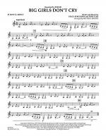 Big Girls Don't Cry - Bb Bass Clarinet Sheet Music