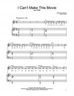 I Can't Make This Movie Sheet Music