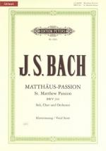 C.f. Peters Bach Matthew Passion Bwv244 Sheet Music