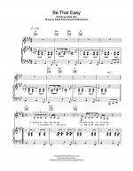 Be That Easy Sheet Music