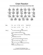 Chain Reaction Sheet Music
