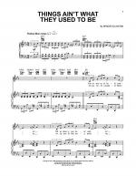Things Ain't What They Used To Be Sheet Music