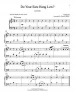Do Your Ears Hang Low? Sheet Music