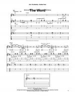 The Word Sheet Music