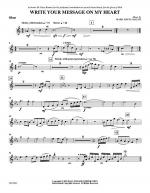 Write Your Message On My Heart - Oboe Sheet Music