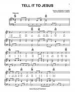 Tell It To Jesus Sheet Music