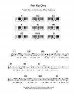 For No One Sheet Music
