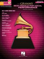 The Grammy Awards: Best Female Pop Vocal Performance 2000-2009 Sheet Music