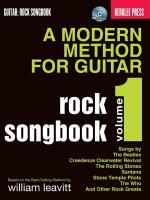 A Modern Method For Guitar: Volume 1 - Rock Songbook Sheet Music