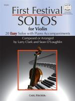 Larry Clark/Sean O'Loughlin: First Festival Solos - Violin Sheet Music