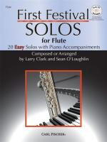 Larry Clark/Sean O'Loughlin: First Festival Solos - Flute Sheet Music