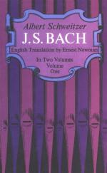 Albert Schweitzer: J. S. Bach - Volume One Sheet Music