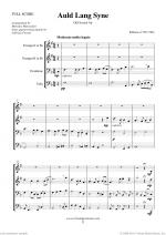 Auld Lang Syne sheet music to download instantly for brass quartet Sheet Music