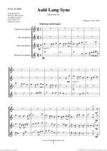 Auld Lang Syne sheet music to download instantly for saxophone quartet Sheet Music