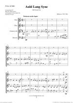 Auld Lang Syne sheet music to download instantly for wind quartet Sheet Music