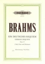 C.f. Peters Brahms German Requiem Op.45 Sheet Music
