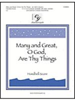 Many and Great, O God, Are Thy Things - Handbell Score Sheet Music