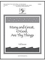 Many and Great, O God, Are Thy Things - Full Score Sheet Music