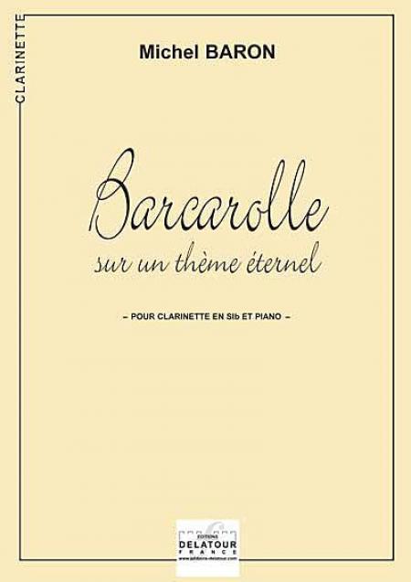 Barcarolle sur un theme eternel Sheet Music