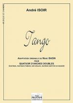 Tango (version quatuor d'anches doubles) Sheet Music