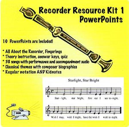 Recorder Kit 1 PowerPoint and Notebook Files Sheet Music