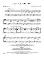 Lady GaGa Hit Mix - Piano Sheet Music