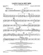 Lady GaGa Hit Mix - Percussion 1 Sheet Music
