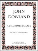 A Pilgrimes Solace (lute score) Sheet Music