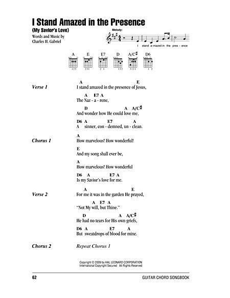 I Stand Amazed In The Presence (My Savior\'s Love) Sheet Music