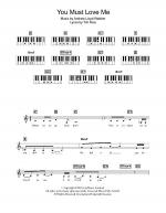 You Must Love Me Sheet Music