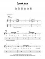 Speak Now Sheet Music