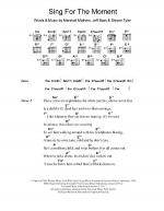Sing For The Moment Sheet Music