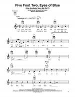Five Foot Two, Eyes Of Blue (Has Anybody Seen My Girl?) Sheet Music