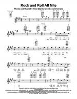 Rock And Roll All Nite Sheet Music