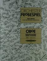 C.f. Peters Orchester Probespiel Oboe Sheet Music