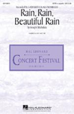 Rain, Rain, Beautiful Rain sheet music to print instantly for choir and piano (SATB) Sheet Music